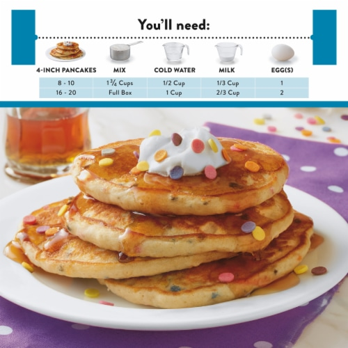 Krusteaz Gluten Free Confetti Buttermilk Pancake Mix Perspective: left