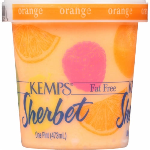 Kemps Fat Free Orange Sherbet Perspective: left