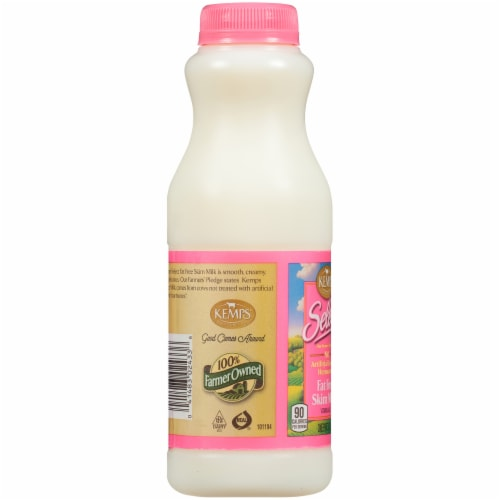 Kemps Select Fat Free Skim Milk Perspective: left