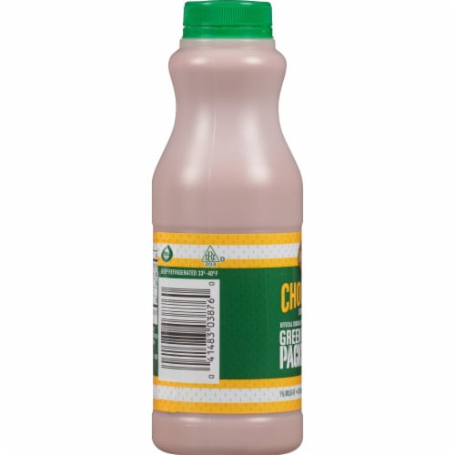 Kemps Green Bay Packers Low-fat Chocolate Milk Perspective: left