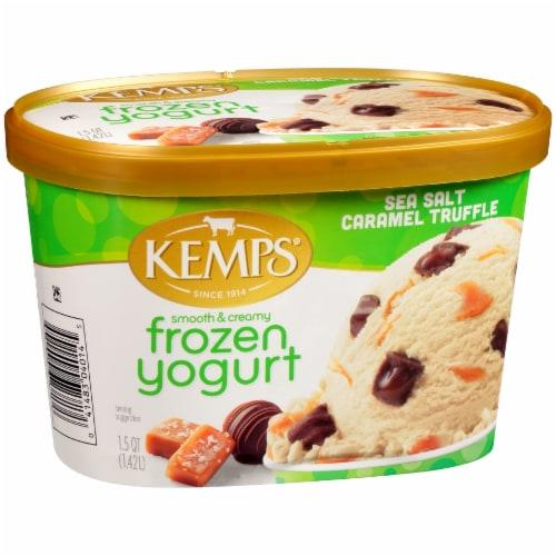 Kemps Smooth & Creamy Sea Salt Caramel Truffle Frozen Yogurt Perspective: left