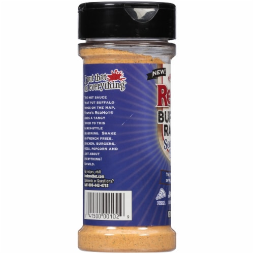 Frank's RedHot Buffalo Ranch Seasoning Blend Shaker Perspective: left
