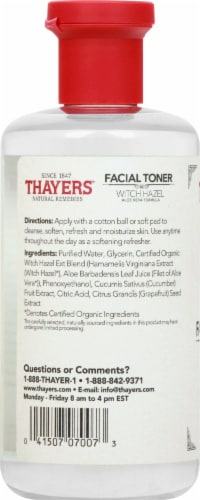Thayers Cucumber Witch Hazel Facial Toner Perspective: left