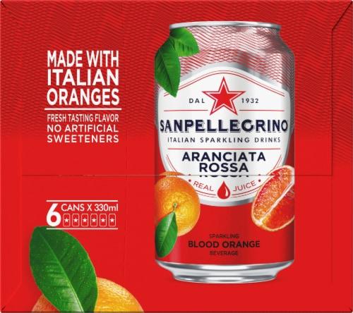 S. Pellegrino Sparkling Blood Orange Beverage 6 Count Perspective: left