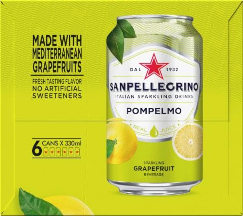 S. Pellegrino Pompelmo Sparkling Grapefruit Beverage 6 Count Perspective: left