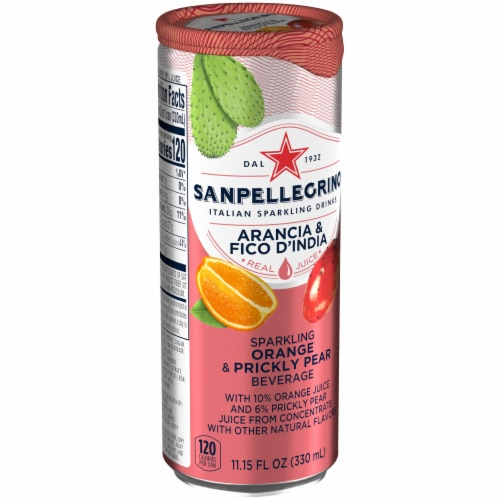 San Pellegrino Sparkling Prickly Pear & Orange Beverage Perspective: left