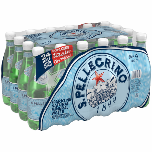 S. Pellegrino Sparkling Natural Mineral Water Perspective: left