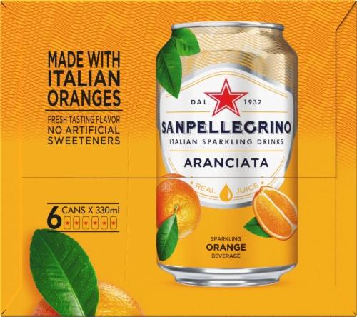 S. Pellegrino Aranciata Sparkling Orange Beverage 6 Count Perspective: left