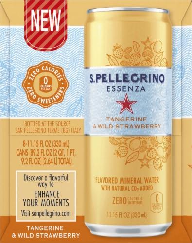 S. Pellegrino Essenza Tangerine & Wild Strawberry Flavored Mineral Water Perspective: left
