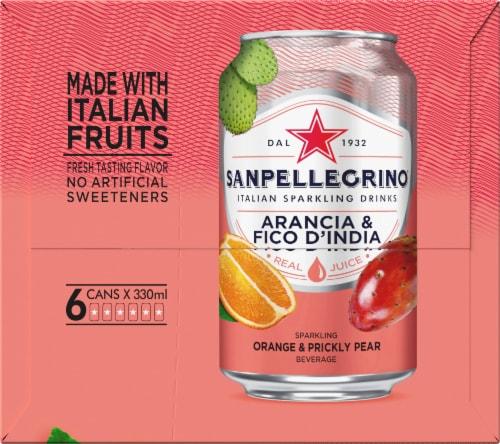 S. Pellegrino Sparkling Prickly Pear & Orange Beverage 6 Count Perspective: left