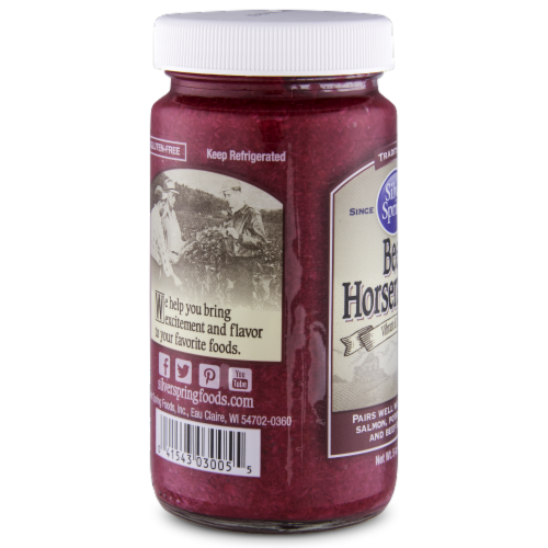 Silver Spring Traditional Beet Horseradish Sauce Perspective: left