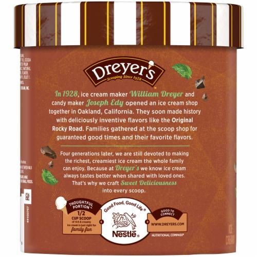 Dreyer's™ Mint Chocolate Chip Ice Cream Perspective: left