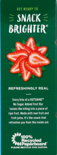 Outshine No Sugar Added Strawberry Fruit Ice Bars Perspective: left