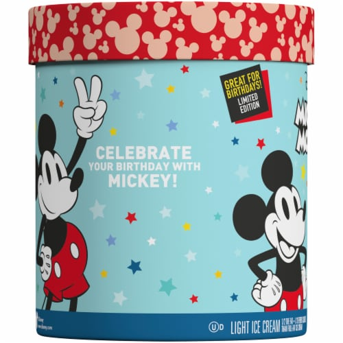 Nestle Disney Mickey Mouse Classic Vanilla & Fudge Light Ice Cream Perspective: left