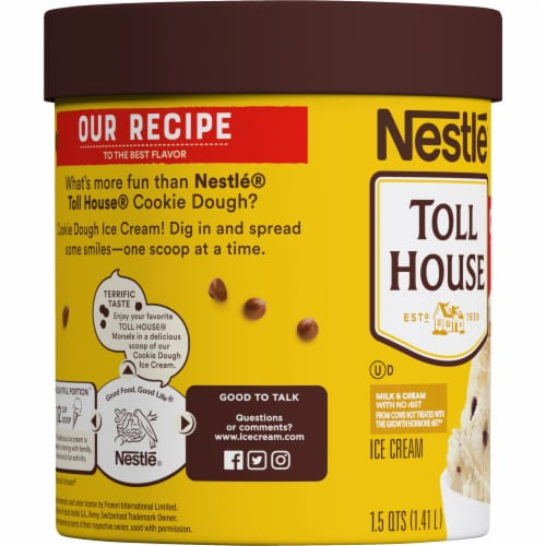 Dreyer's/Edy's Nestle Toll House Cookie Dough Ice Cream Perspective: left