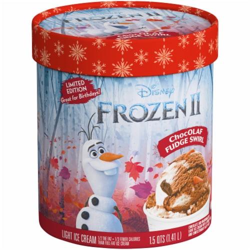 Disney Frozen 2 ChocOLAF Fudge Swirl Ice Cream Perspective: left