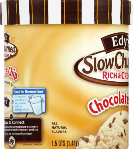 Dreyer's/Edy's Slow Churned Chocolate Chip Light Ice Cream Perspective: left