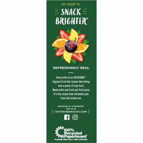 Outshine Organic Assorted Fruit Ice Bars 9 Count Perspective: left