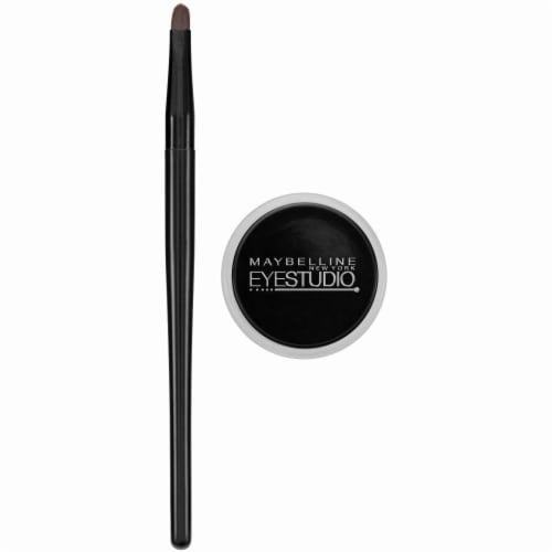Maybelline Eyestudio Lasting Drama Blackest Black Gel Eyeliner Perspective: left
