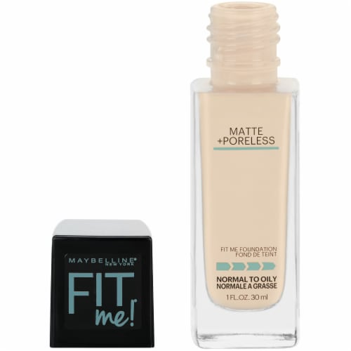 Maybelline Fit Me 110 Porcelain Matte + Poreless Liquid Foundation Perspective: left
