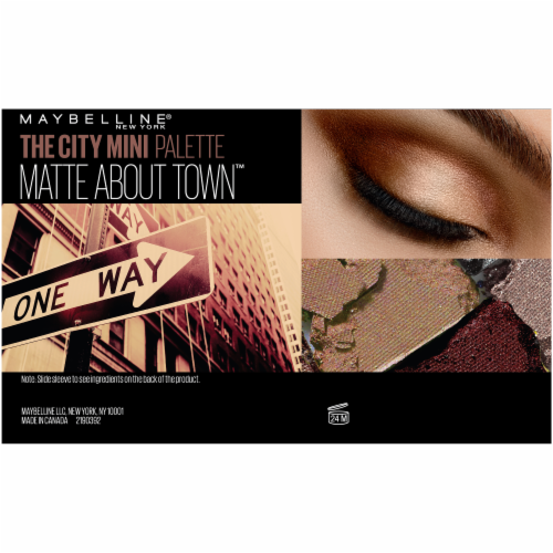 Maybelline The City Mini 480 Matte About Town Eyeshadow Palette Perspective: left