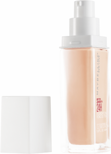 Maybelline Superstay 24-Hour Full Coverage 102 Fair Porcelain Liquid Foundation Perspective: left