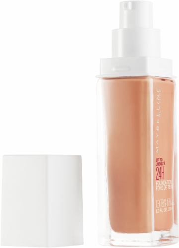 Maybelline Superstay 130 Buff Beige 24-Hour Full Coverage Liquid Foundation Perspective: left