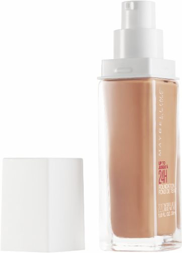Maybelline Superstay 24-Hour Full Coverage 220 Natural Beige Liquid Foundation Perspective: left