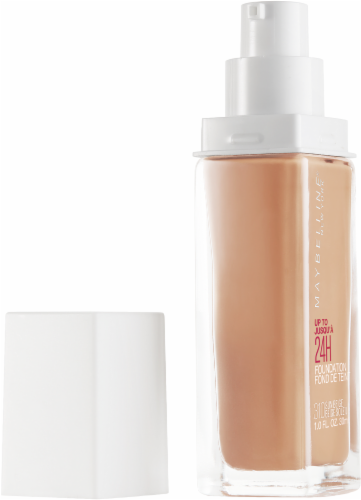 Maybelline Superstay 24-Hour Full Coverage 310 Sun Beige Liquid Foundation Perspective: left