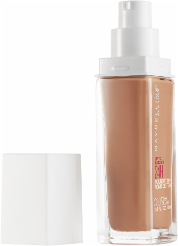 Maybelline Superstay 330 Toffee Caramel Full Coverage Liquid Foundation Perspective: left