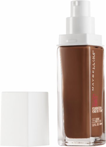 Maybelline Superstay 355 Coconut Full Coverage Liquid Foundation Perspective: left