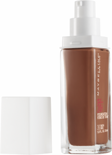 Maybelline Superstay Mocha Full Coverage Liquid Foundation Perspective: left