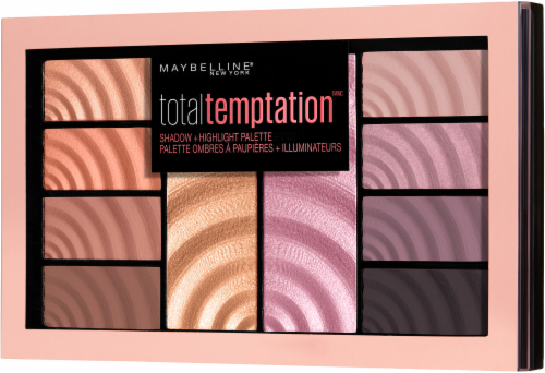 Maybelline Total Temptation Eyeshadow + Highlighter Palette Perspective: left