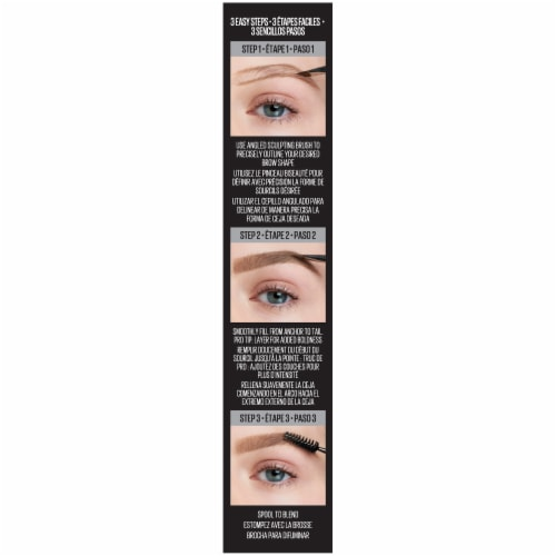 Maybelline TattooStudio Long Lasting 374 Soft Brown Eyebrow Pomade Perspective: left