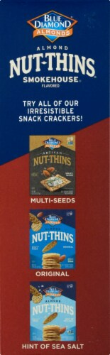 Blue Diamond Smokehouse Nut-Thins Cracker Snacks Perspective: left