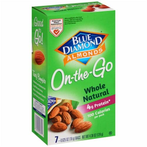 Blue Diamond Whole Natural Almonds 100 Calorie Bags Perspective: left