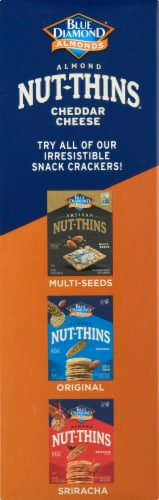 Blue Diamond Cheddar Cheese Almond Nut-Thins Crackers Perspective: left