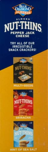 Blue Diamond Pepper Jack Cheese Nut-Thins Cracker Snacks Perspective: left