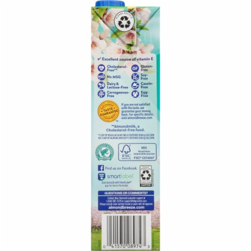 Blue Diamond Almond Breeze Coconut Milk Blend Perspective: left