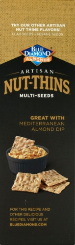 Blue Diamond Almonds  with Multi-Seeds Artisan Nut-Thins Cracker Snacks Perspective: left