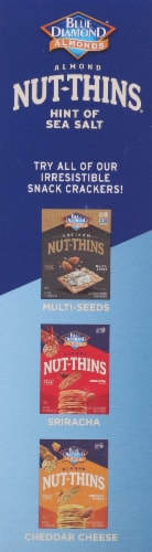 Blue Diamond Nut-Thins Hint of Sea Salt Almond Crackers Perspective: left