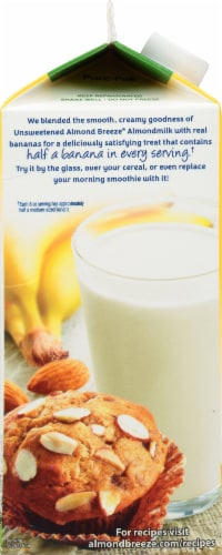 Blue Diamond Almond Breeze Almondmilk Blended with Real Bananas Perspective: left
