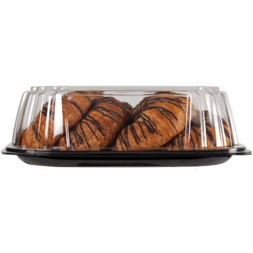 Private Selection All Butter Croissant With Chocolate Drizzle Perspective: left