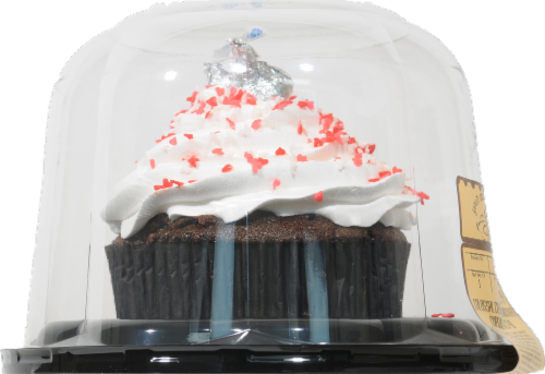 Fred Meyer Bakery Colossal Colorful Chocolate Cupcake Perspective: left