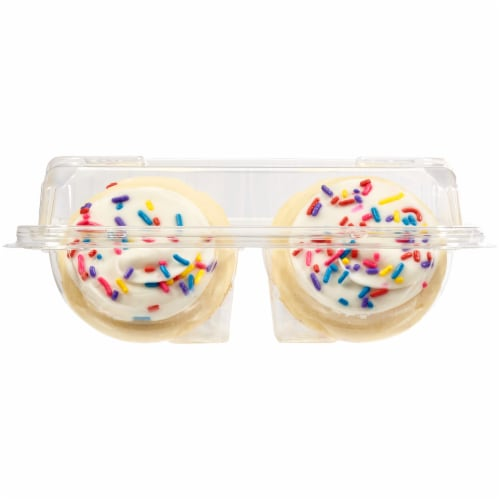 Bakery Fresh Goodness White Frosted Sugar Cookies Perspective: left