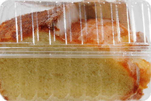 Ralphs Vanilla Pudding Cake Slice Perspective: left