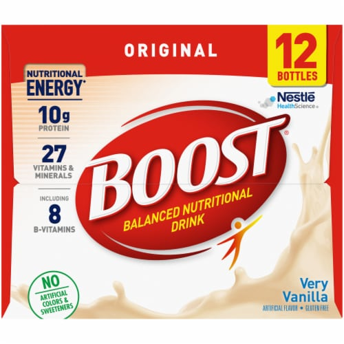 Boost Very Vanilla Nutritional Drink Perspective: left
