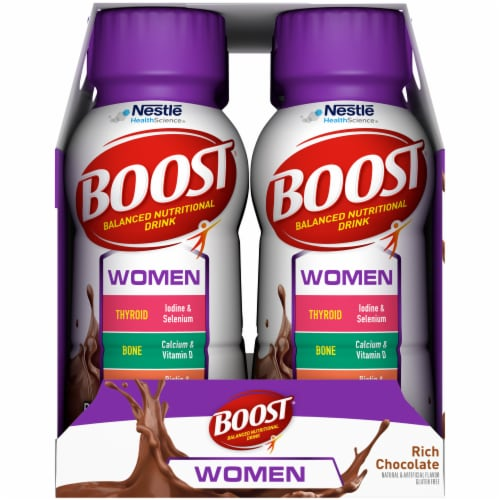 Boost Women Rich Chocolate Nutritional Drink Perspective: left