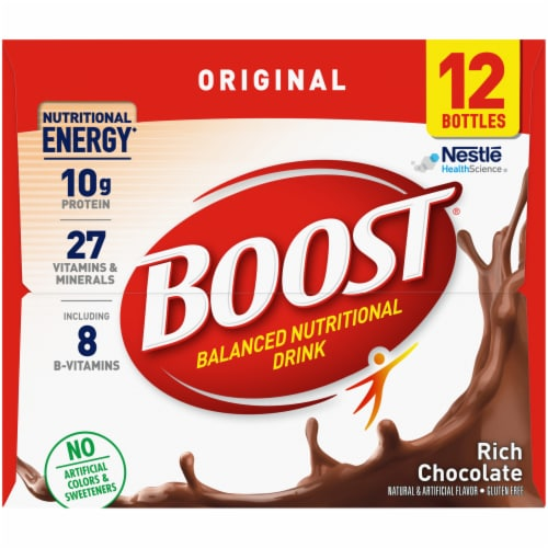 Boost Original Rich Chocolate Nutritional Drink Perspective: left