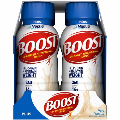 Boost Plus Very Vanilla Balanced Nutritional Drink 6 Count Perspective: left